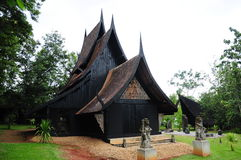 Black house in Chiangrai Stock Photography
