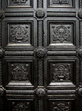 Black house door pattern Stock Photo