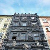 Black House on the Market Square of Lviv, Ukraine Royalty Free Stock Image