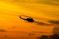 Black Huey helicopter Stock Photo