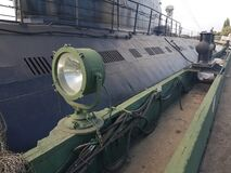 Free Black Hull Of An Old Military Submarine Stock Photos - 198109183