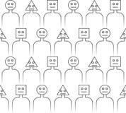 Black human figure sticks seamless pattern royalty free illustration