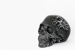 Black human skull on white.Day of Dead dia de los muertos. Black human skull isolated on white background. Day of Dead dia de los muertos - in mexican culture stock photos