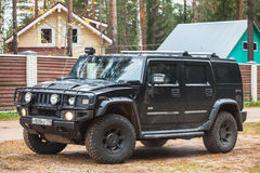 Black Hummer H2 vehicle Royalty Free Stock Image