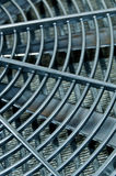 Black Hydraulic Oil Cooler Stock Photo