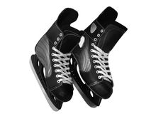 Black ice skate Stock Photos