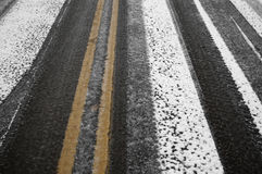 Black Ice on the Street Royalty Free Stock Images