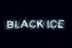 Black ice (Text serie) Royalty Free Stock Images
