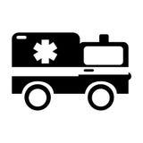 Black icon ambulance car cartoon Stock Photo