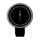 Black icon blood plessure apparatus cartoon Stock Photos
