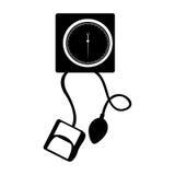 Black icon blood plessure apparatus cartoon Royalty Free Stock Photo