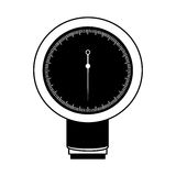 Black icon blood plessure apparatus Stock Photo