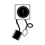 Black icon blood plessure apparatus Stock Image