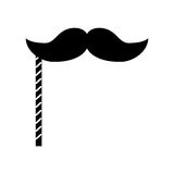 Black icon booth prop moustache. Cartoon vector graphic design Royalty Free Stock Image