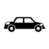 Black icon car. Cute black icon car vector graphic design Royalty Free Stock Photo
