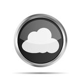 Black icon with cloud Stock Photography