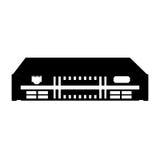 Black icon modem cartoon Stock Photo