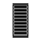 Black icon server cartoon. Vector graphic design Stock Image