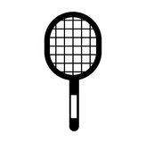 Black icon sport racket Royalty Free Stock Images
