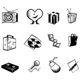 Black Icons Royalty Free Stock Image