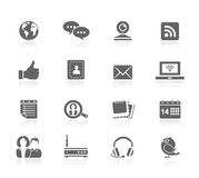 Black Icons - Communication Stock Image