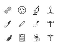 Black icons for genetics Stock Images