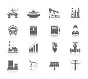 Black Icons - Industry And Energy Royalty Free Stock Photography