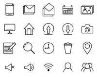 Black Icons line set Royalty Free Stock Photo
