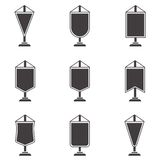 Black icons for pennant Stock Photo