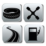 Black icons for repairs Royalty Free Stock Images