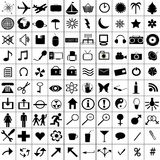 Black icons set Royalty Free Stock Images