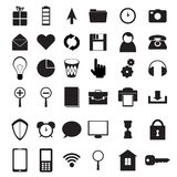 Black icons set Stock Photos