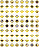 Black icons set eleven Royalty Free Stock Photography