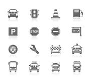 Black Icons - Traffic Royalty Free Stock Photography