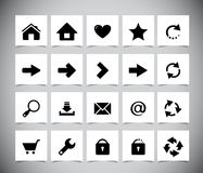 Black icons for web Stock Photos