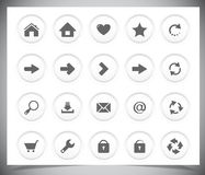 Black icons for web Stock Photography