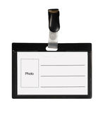 Black ID card Stock Photo