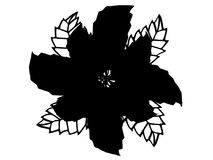 Black illustration flower silhouette Royalty Free Stock Photography