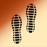 Black Imprint soles shoes. Royalty Free Stock Image