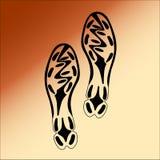 Black Imprint soles shoes. Stock Images