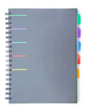 Black index notebook Stock Images