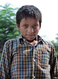 Black indian boy stock photography