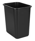 Black Indoor Waste Bin. On white background Royalty Free Stock Images
