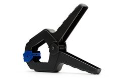 Black industrial clamp Stock Image