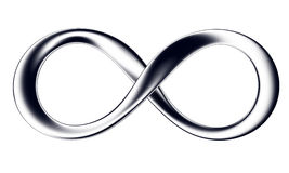 Black infinity. Sign of infinity of black color on a white background Royalty Free Stock Photos