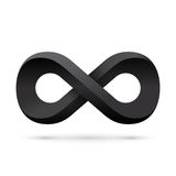 Black infinity symbol. Conceptual icon Royalty Free Stock Images