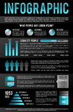 Black Infographic Template Royalty Free Stock Photo