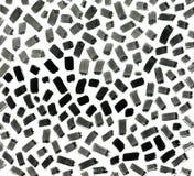 Black ink abstract random stroke background. Hand Stock Image