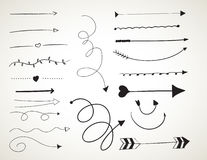 Black ink art brushes set. Royalty Free Stock Photo