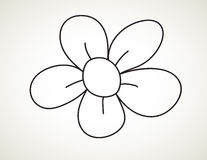 Black ink art flower stock illustration